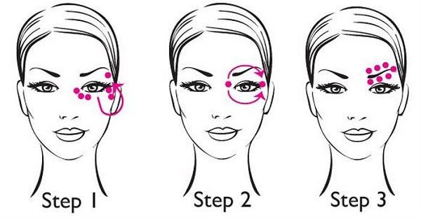 Các bước thoa kem dưỡng mắt