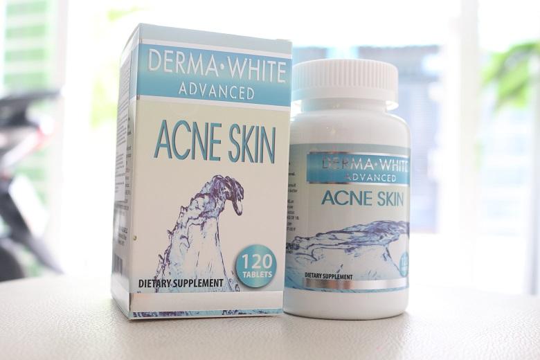 Viên uống trị mụn Derma White Acvanced Acne Skin 120 viên
