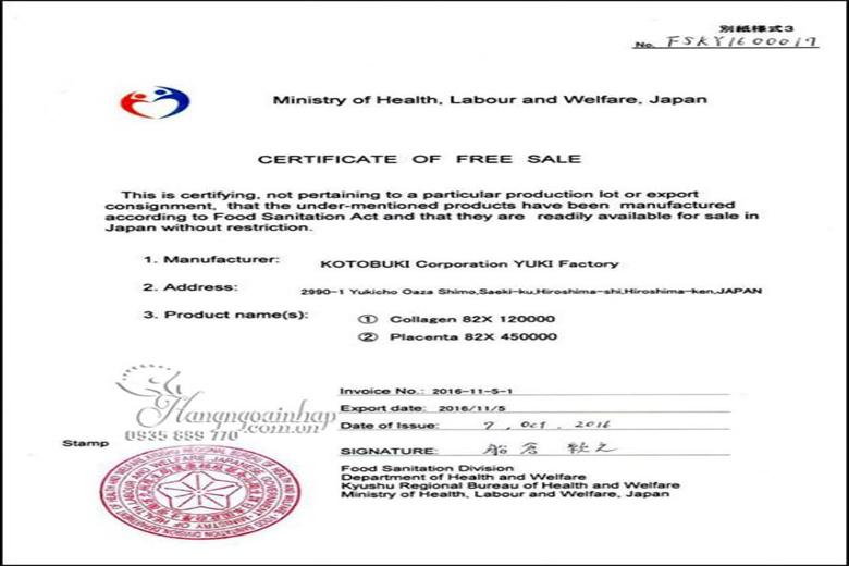 Giấy chứng nhận chất lượng sản phẩm tại Nhật Bản