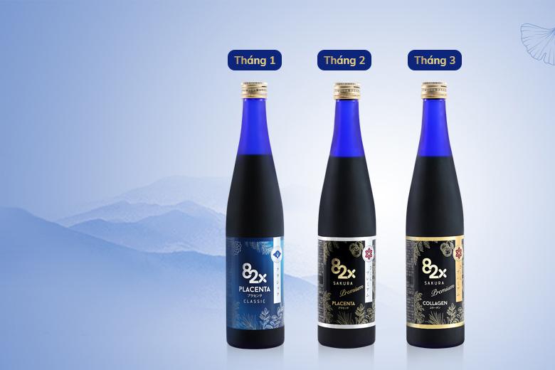 Liệu trình uống collagen 82x da đẹp dáng thon