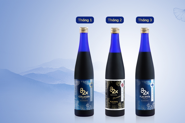 Liệu trình uống collagen 82x đẹp thần sầu giấu tuổi tác