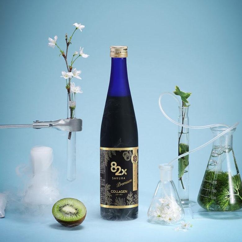 Nước uống đẹp da 82X Collagen Sakura Premium của Nhật Bản