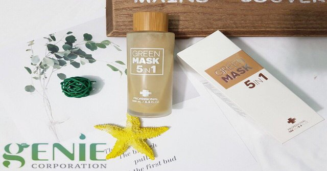 Review mặt nạ Genie Green Mask 5 in 1