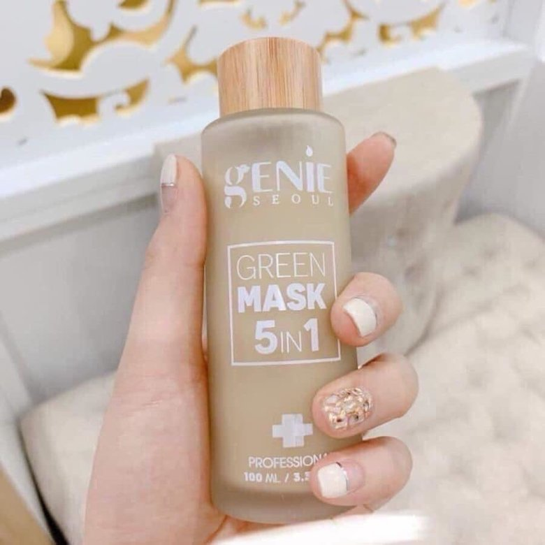 Review mặt nạ Genie Green Mask 5 in 1 chai