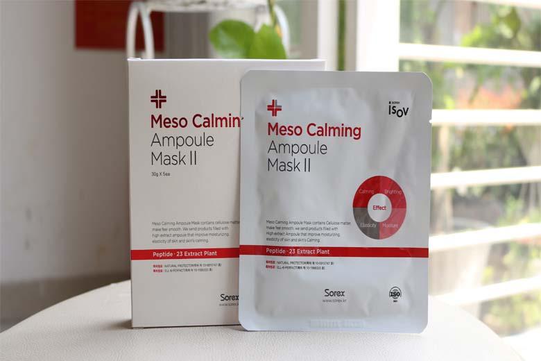 Tác dụng mặt nạ làm dịu da kích ứng Meso Calming Ampoule Mask II 30g