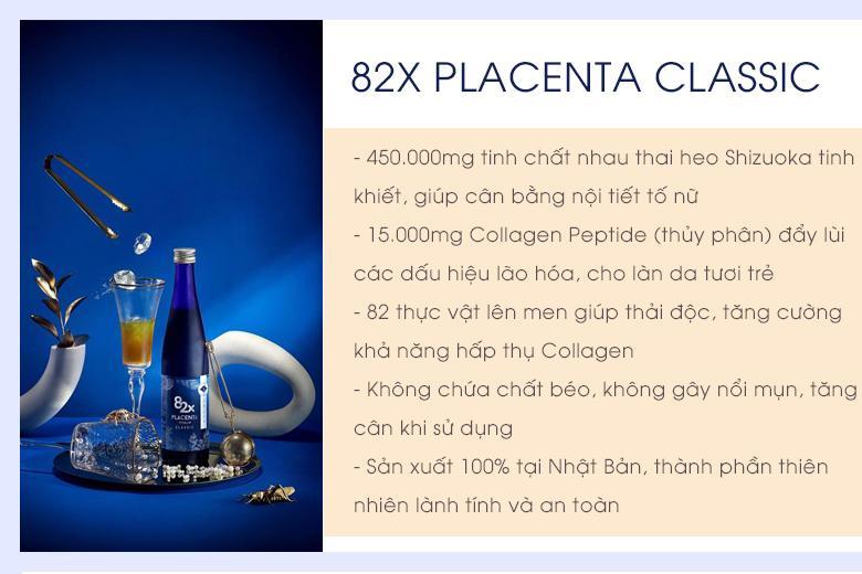 Thành phần 82x Placenta Classic Nhật Bản