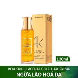 Nước hoa hồng ngừa lão hóa da Beauskin Luxury 24K Gold Placenta 130ml