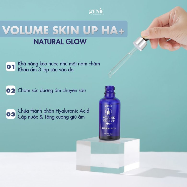 Serum volume skin up ha+ công dụng