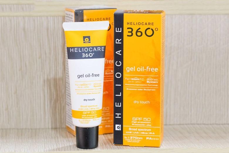 Kem chống nắng dạng gel Heliocare 360° Gel Oil Free SPF 50 50ml