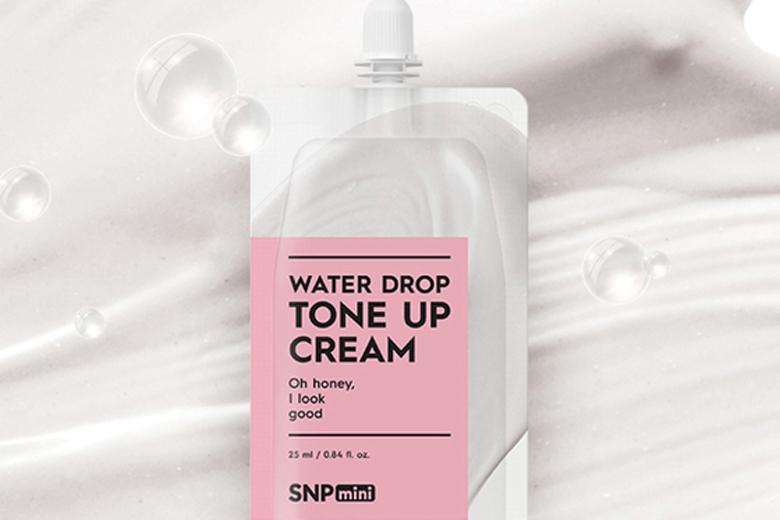 Công dụng kem dưỡng nâng tone trắng sáng SNP Mini Water Drop Toner Up Cream 25ml