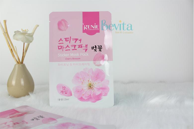 Công dụng mặt nạ hoa anh đào Genie Cherry Blossom Sticker Mask Pack 21ml
