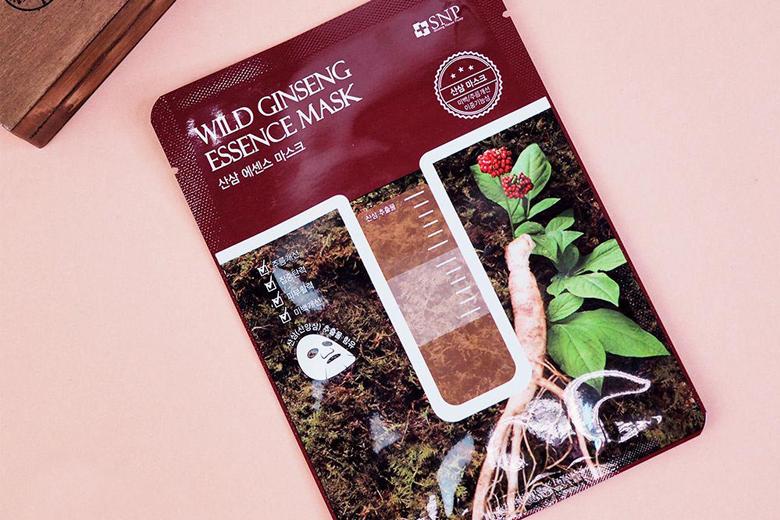 Công dụng mặt nạ tinh chất sâm núi SNP Wild Ginseng Essence Mask 25ml (miếng)