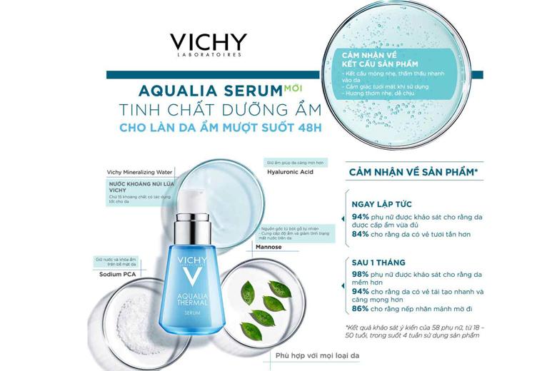 Công dụng Vichy Aqualia Thermal Rehydrating Serum 30ml