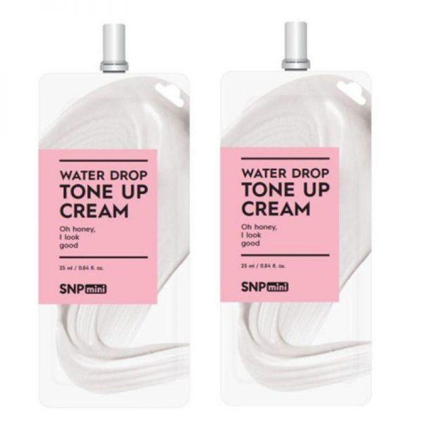Kem dưỡng nâng tone trắng sáng SNP Mini Water Drop Toner Up Cream 25ml