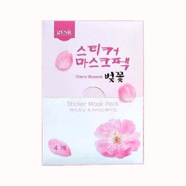Mặt nạ hoa anh đào Genie Cherry Blossom Sticker Mask Pack 21ml (1 miếng)