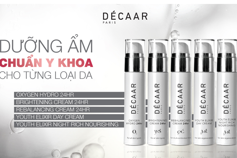 Tác dụng kem dưỡng ẩm Decaar Oxygen Hydro 24hr Cream 50ml