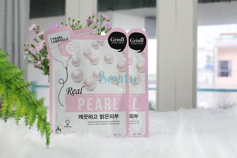 Tác dụng mặt nạ ngọc trai dưỡng trắng Grinif Real Pearl Mask 25g