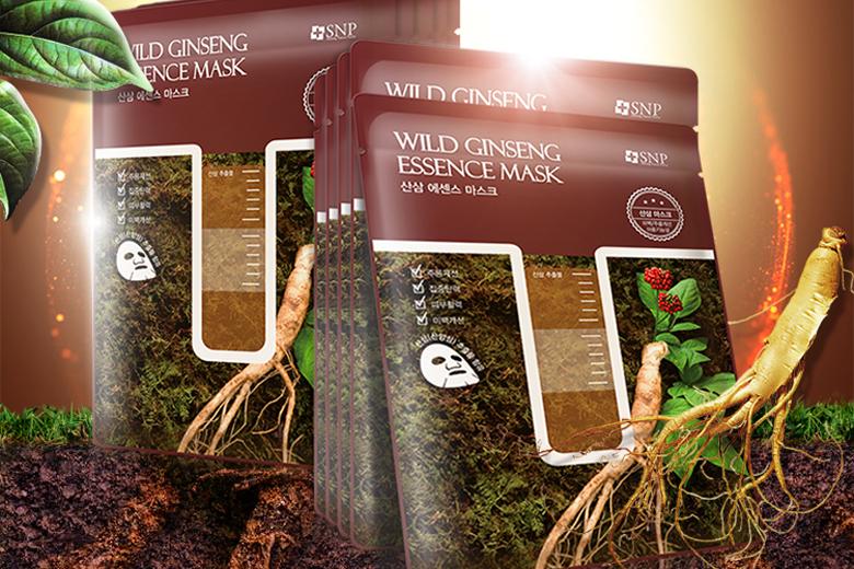 Tác dụng mặt nạ tinh chất sâm núi SNP Wild Ginseng Essence Mask 25ml (miếng)