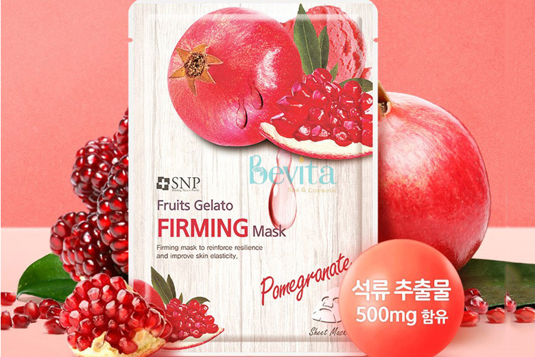 Tác dụng SNP Fruits Gelato Firming Mask 25ml