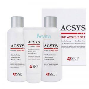 Bộ dưỡng da mụn da nhờn SNP Acsys