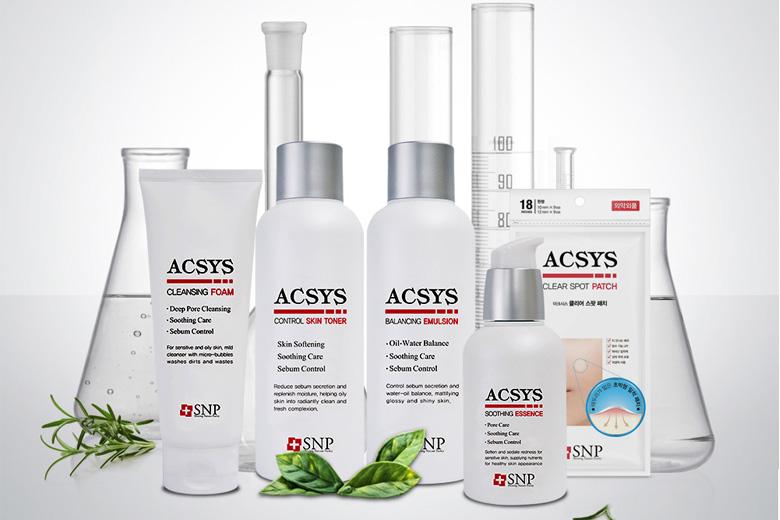 Tác dụng bộ dưỡng da mụn da nhờn SNP Acsys