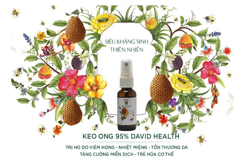 Tác dụng xịt keo ong David Health Bee Propolis 30ml