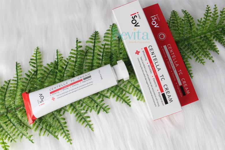 Tác dụng kem trị mụn trắng da Isov Centella TC Cream 50ml
