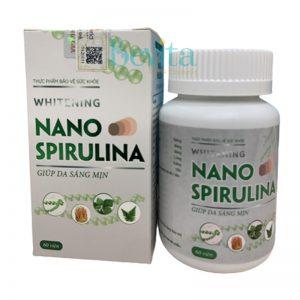 Viên uống trắng sáng da Mediworld Whitening Nano Spirulina 60 viên