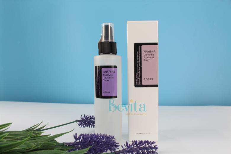 Công dụng nước hoa hồng trị mụn Cosrx AHA/BHA Clarifying Treatment Toner 150ml