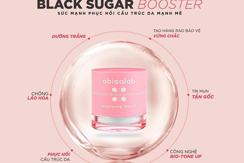 Công dụng mặt nạ đường đen Abisalab Black Sugar Booster 30ml