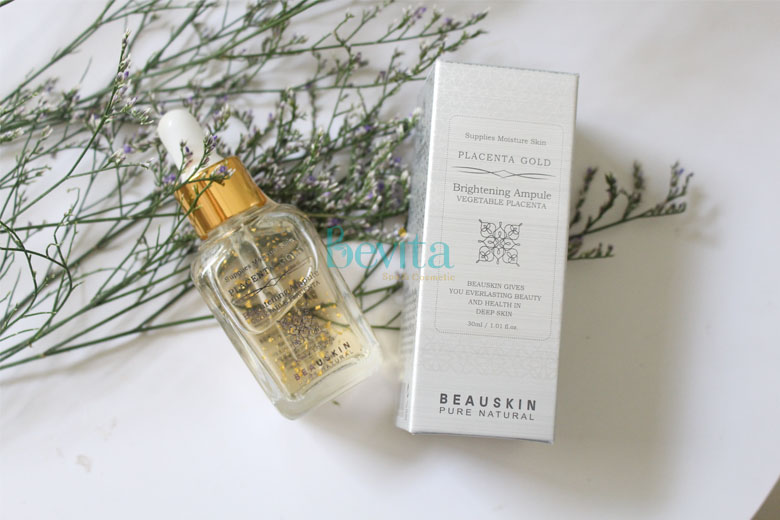 Công dụng Beauskin Placenta Gold Brightening Ampoule