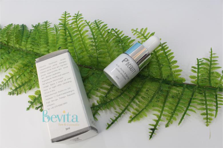 Công dụng serum trị mụn đường đen P'Beauty Anti-Acne & Tighten Pores Ampoule 5ml