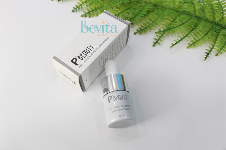 Tác dụng serum trị mụn đường đen P'Beauty Anti-Acne & Tighten Pores Ampoule 5ml