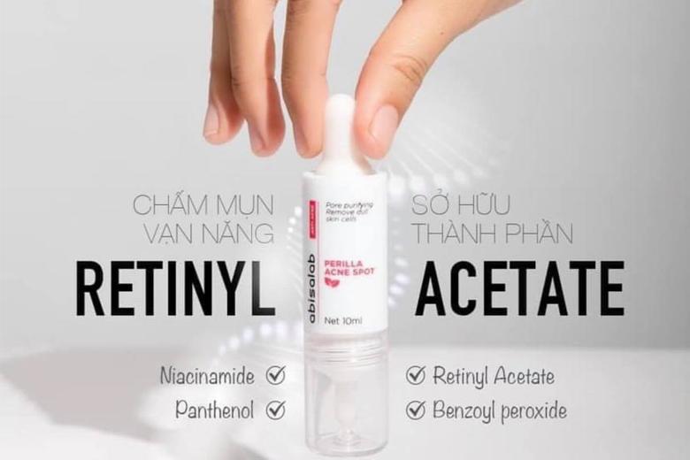 Công dụng tinh chất giảm viêm, giảm mụn Abisalab Perilla Acne Spot 10ml