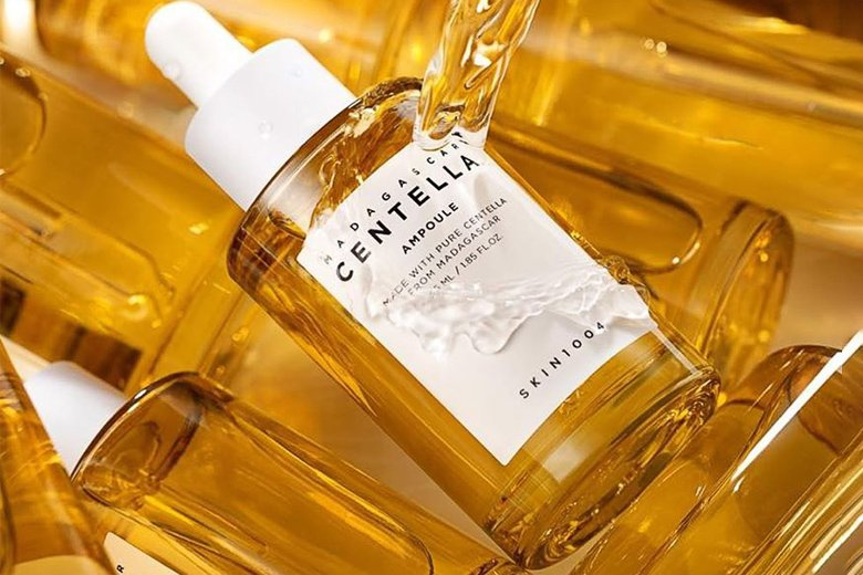 Công dụng tinh chất rau má trị mụn Skin1004 Madagascar Centella Ampoule 50ml