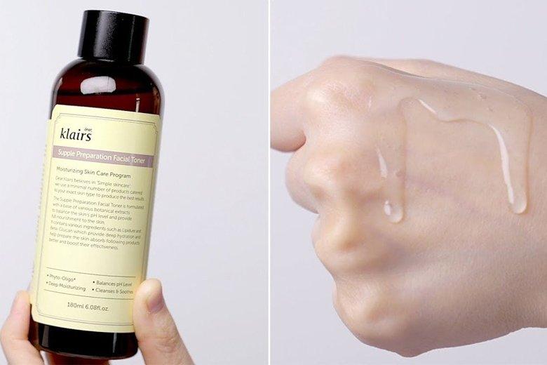 Tác dụng nước hoa hồng Dear Klairs Supple Preparation Facial Toner 180ml