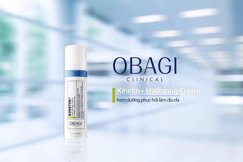 Công dụng kem dưỡng phục hồi làm dịu da Obagi Clinical Kinetin + Hydrating Cream 50ml