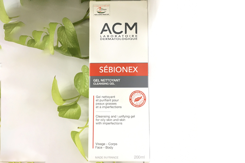 Công dụng sữa rửa mặt da dầu ACM Sebionex Cleansing Gel 200ml
