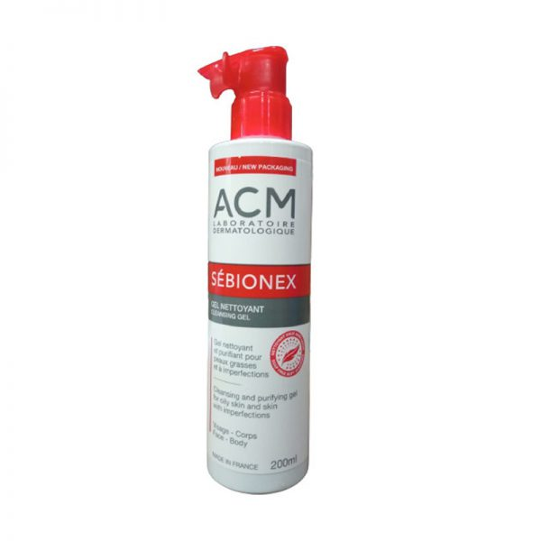 Sữa rửa mặt da dầu ACM Sebionex Cleansing Gel 200ml