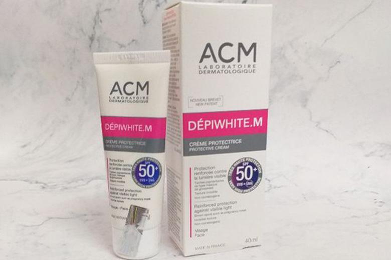 Tác dụng kem chống nắng ACM Depiwhite M Protective Cream SPF50+ 40ml
