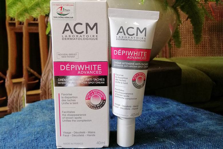 Tác dụng kem dưỡng sáng da ACM Depiwhite Advanced Intensive Anti-Brown Spot Cream 40ml
