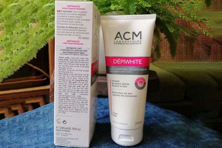Tác dụng sữa dưỡng ẩm sáng da cơ thể ACM Depiwhite Body Milk 200ml