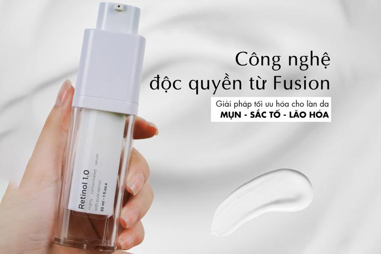 Công dụng serum chống lão hóa Fusion Retinol 1% Concentrated Serum 30ml