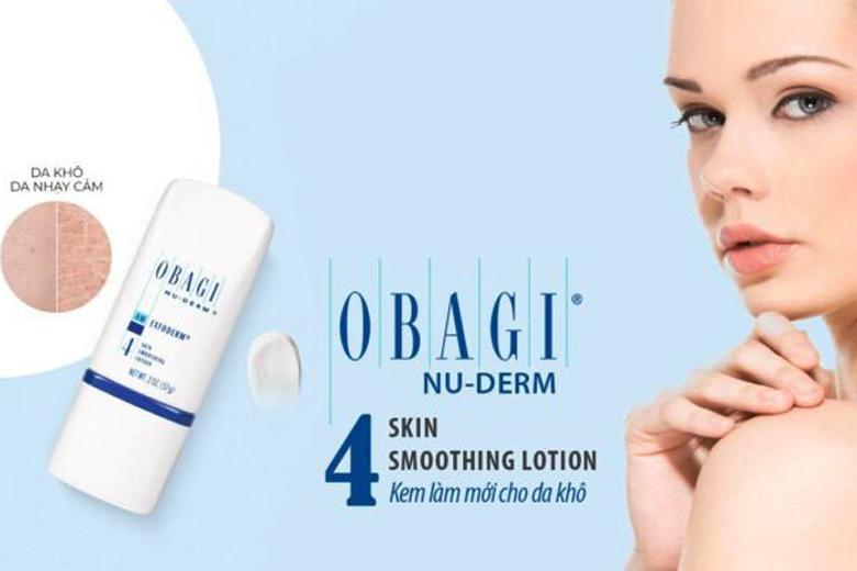 Tác dụng lotion tái tạo cho da khô Obagi Nuderm Exfoderm Skin Smoothing Lotion 57g
