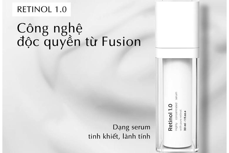 Tác dụng serum chống lão hóa Fusion Retinol 1% Concentrated Serum 30ml