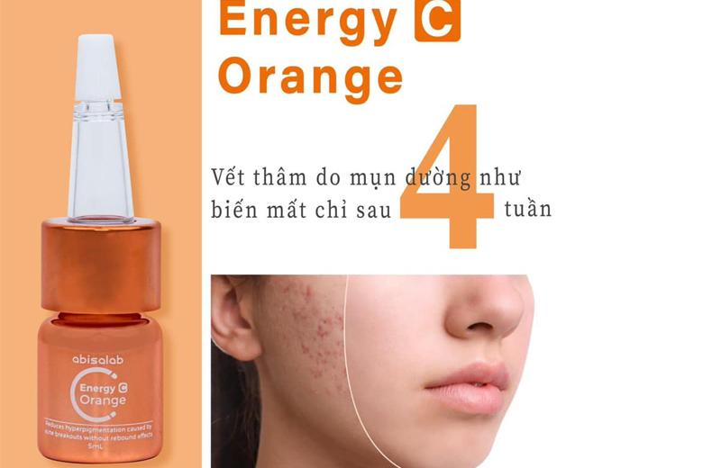 Công dụng serum trị mụn đường cam Abisalab Energy Orange 5ml